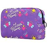 Toiletry Bag Large Portable Waterproof Cosmetic Bag Travel Hanging Make up Wash Bags Makeup Organizer Toiletries Bathroom Storage Princess Purple