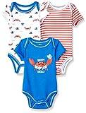 Quiltex Boys' Toddler Snappy Dresser Creeper Bodysuit Set 3 Pack, 6-9 Months
