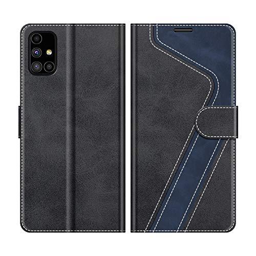 MOBESV Handyhülle für Samsung Galaxy M51 Hülle Leder, Samsung Galaxy M51 Klapphülle Handytasche Case für Samsung Galaxy M51 Handy Hüllen, Modisch Schwarz