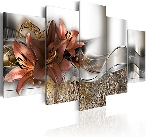 Konda Art Over Size Floral Canvas Art Modern Paintings for Wall Decor 5 pcs Contemporary Abstract product image