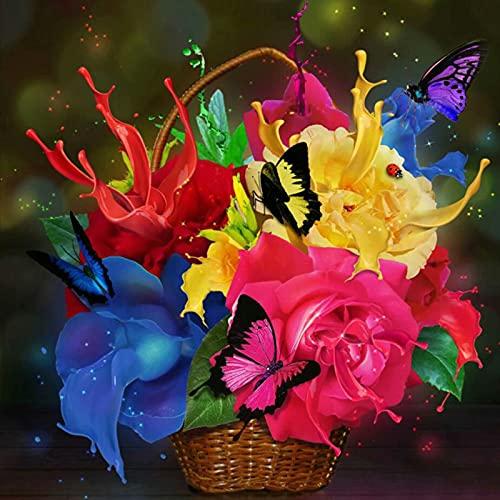 Rompecabezas para Adultos 1000 Piezas de Madera, Mariposa Flor Bricolaje, Juguetes educativos para niños, Juegos, Regalos de cumpleaños de Navidad 70x50cm