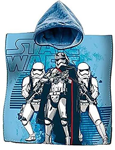 La Bottega del Risparmio Accappatoio Poncho Asciugamano Cotone Star Wars Guerre Stellari Mare Bambini
