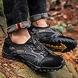 ZZ Chaussures De Randonnée Camping Montagne Homme Chaussures d'eau Chaussures De Randonnée Outdoor Grande Taille 50 Chaussures De Course sur Sentier Chaussures De Sport en Mesh Respirant,Black-50