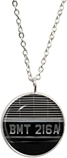 1StopShops BMT 216A Car Plate Design Pendant and Silver Plated Necklace Set