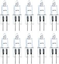 JKLcom 20W Halogen Bulbs 20 Watt T3 G4 Base 12 Volt Light bulb 20W 12 Volt T3 JC Lamp Halogen Light Bulb for Landscape Track Lighting,G4 T3 Bi-Pin Base,Clear,Warm White,Pack of 10