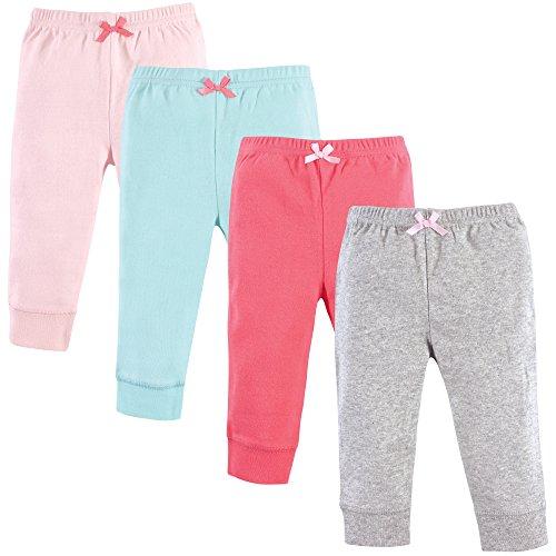 Luvable Friends Unisex Baby Cotton Pants, Coral Aqua, 12-18 Months