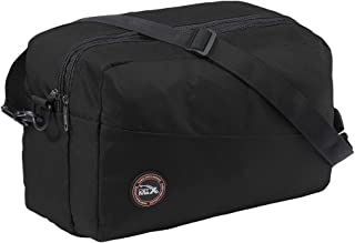 Cabin Max Rio Stowaway – Bolsa de Hombro de 40x25x20cm - Maleta de Cabina Segundo Equipaje para Vuelos en Ryanair (Negro)