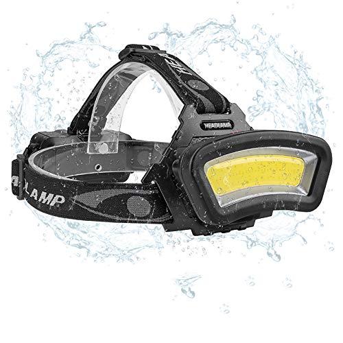 Linterna Frontal COB lámpara,Eletorot Lúmenes Linterna Cabeza con 4 modos de iluminación Impermeable USB Recargable para Camping Excursión Pesca Ciclismo Caza Escalada