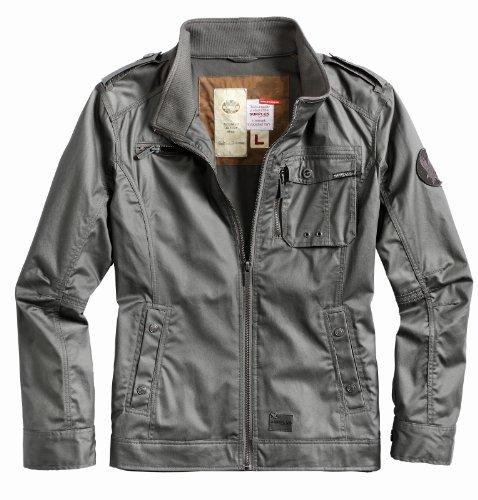 Surplus Armored Vintage Jacke M65 Parka Regen Jacket, Größe S, dunkelgrau