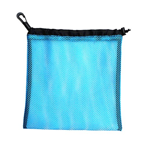Homyl Sac Rangement pour Balles de Golf/Tennis de Table en Filets de Maille Pochette Housse Transport Golf Tennis de Table - Bleu, 24 x 24 cm