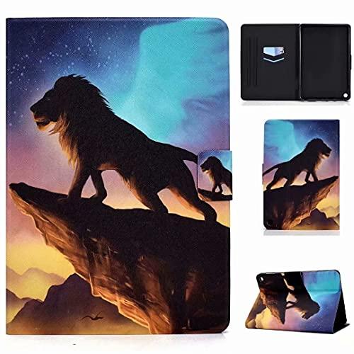 Funda para tablet Fire HD 10 (11ª generación 2021) y Fire HD 10 Plus, funda protectora de piel sintética con Smart Auto Sleep/Wake, The Lion King