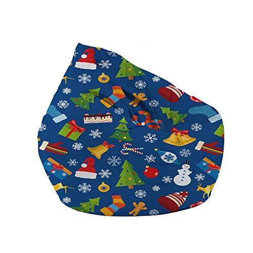 Sitzsack mit Reißverschluss, für Kinder, Erwachsene, Teenager, 60 x 65 cm, Blau