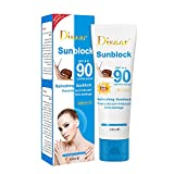 KOKOW SPF 90 Sunscreen Lotion Face Body Protection Moisturizer Sunscreen Anti-aging 3 in 1 Oil-Free Non-Comedogenic UV-blocking Face Lotion (A)