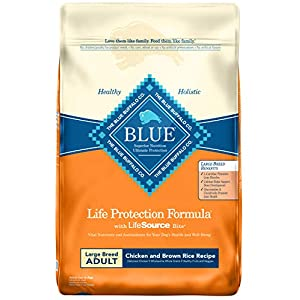 Blue Buffalo Life Protection Formula Natural Adult Large Breed Dry Dog Food, Chicken and Brown Rice 15-lb