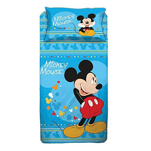 Personaggi Juego de Ropa de Cama Individual de algodón con diseño de Mickey Mouse.