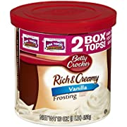Betty Crocker, Rich & Creamy Frosting, Vanilla, 16oz Tub (Pack of 3)