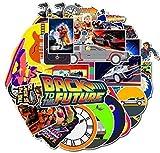 Top pegatinas! Juego de 50 pequenas Pegatinas de Ritorno al Futuro - Back to the Future - No Vulgares - Fashion, Estilo, Bomba - Personalización Portátil, Scrapbooking