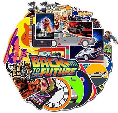 Top Stickers ! Lot de 50 Petits Stickers Retour vers le Futur - Back to the Future - Environ 6cm - Scrapbooking
