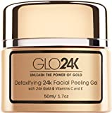 GLO24K Facial Peeling Gel with 24k Gold and Vitamins C,E. For optimal Exfoliation and Microdermabrasion. Restore and Revive your Skin.