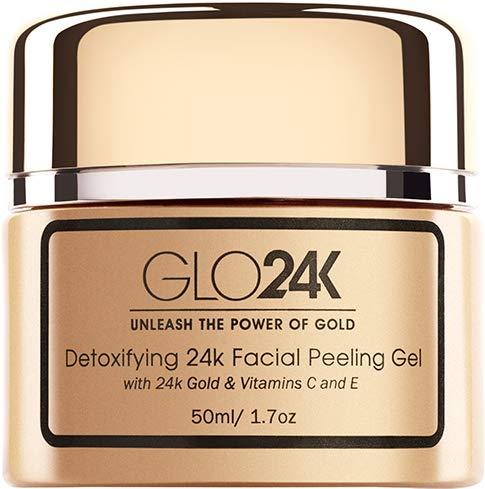 ORO24KARAT Gel exfoliante facial con de 24 k, fórmula antienvejecimiento con vitaminas C y E