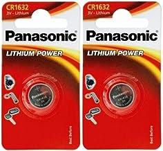 Panasonic CR1632 - Pilas de litio (2 unidades, 3 V)