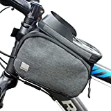 Sahoo Bolsa para bicicleta – Bolsa para cuadro de bicicleta Smartphone impermeable – Bolsa para tubo superior con soporte para teléfono móvil con pantalla táctil – Bolsa para bicicleta
