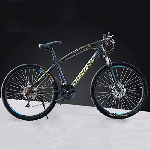 HongLianRiven BMX 26 Inch Mountain Bikes, High-Carbon Steel Hard Tail Bicycle, Lightweight Bicycle with Adjustable Seat, Double Disc Brake, Spring Fork,B,24 Speed 6-20