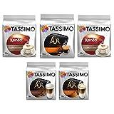 Tassimo Variety Pack - L Or Espresso Cappuccino/Caramel Latte Macchiato, Kenco Cappuccino - 5 Packs (48 Servings)