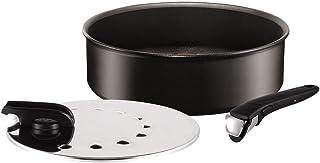 Tefal Ingenio Expertise - Guisera de Aluminio de 26 cm para mango extraíble, antiadherente con extra de titanio, aptas para todo tipo de cocinas incluido inducción