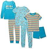 Spotted Zebra 6-Piece Snug-Fit Cotton Pajama Set Sets, Brunch Bunch, XS, Pack de 6