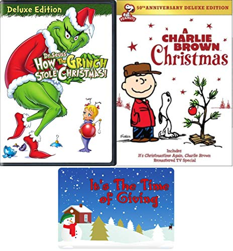A Charlie Brown Christmas / How The Grinch Stole Christmas: Deluxe DVD Bundle with Bonus Art Card