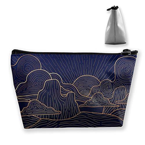 Landscape Papier peint avec motif Golden Mountain Line Arts de luxe DesigTrain pour femme
