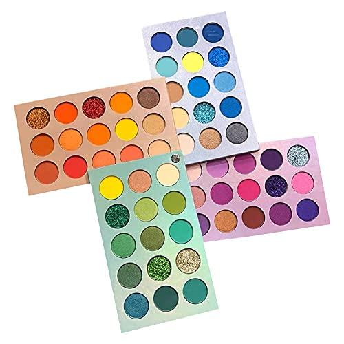 oshhni Paleta de sombras de ojos Blendable 60 pigmento de maquillaje de colores para principiantes Resaltador de brillo Kit de regalo Shimmers fácil de