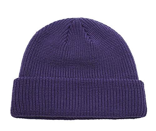 Gu3Je Magnifique Bonnet Unisexe Rétro Chapeau d'hiver, Chapeau d'hiver Doux Extensible par câble Cap extérieur Chaud Lazy Bonnet pour Les Femmes (Color : Purple, Size : 55-60cm)
