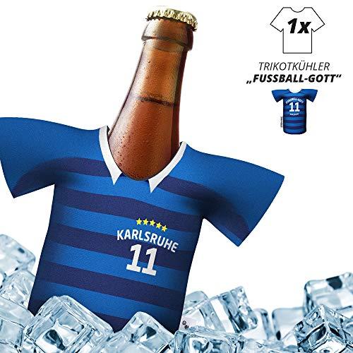 Ligakakao Herren Trikot 2019/20 kühler Home für. KSC-Fans | FUßBALL-Gott | 1x Trikot | Fußball Fanartikel Jersey Bierkühler by