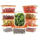 Oursson Recipientes Plastico para Alimentos Almacenaje Cocina con Tapas Naranja...
