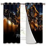 SSKJTC Blackout Draperies Window Curtain Panels Transformers Revenge of The Fallen Movies Bumblebee Frontal View for Living Room W55xL39 Inch