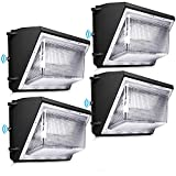 LEDMO 120W LED Wall Pack Light 4 Pack Dusk to Dawn with Photocell Outdoor Commercial Industrial Lights 840W HPS/HID Equivalent 5000K Security Flood Lighting for Buildings,Warehouse, Parking Lots,Yard