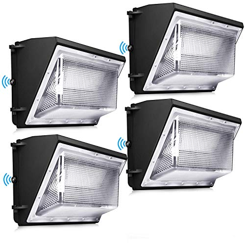 120W LED Wall Pack Light 4 Pack Dusk to Dawn with Photocell Outdoor Commercial and Industrial Lighting 840W HPS/HID Equivalent 5000K Security Flood Lighting for Buildings,Warehouses, Parking Lots,Yard