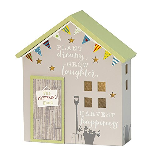 Dreams Laughter & Happiness Light Up Pottering Shed Gift All About Home Range