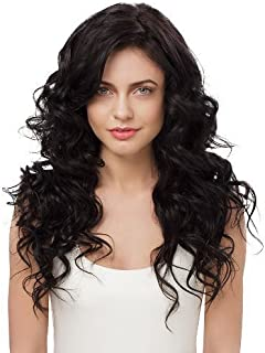 IRRESISTIBLE ME – Clip in Hair Extensions Natural Black (Color #1b) - 100% Natural Remy (Remi) Human Real Hair – Straight Silky Touch – Clips Pieces Full Head Set - Different Weight (Grams) and Length (Inch) (#1b-18