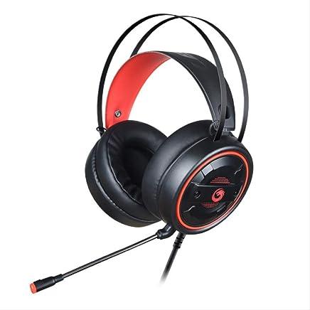 PMWLKJ Cuffie da Gioco Cuffia Auricolare Stereo Bass Gaming Wired Microfono con Cuffie da Gioco Retroilluminate per Laptop Nero Rosso - Trova i prezzi più bassi