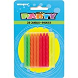 Neon Birthday Candles, 20ct