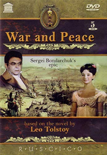War and Peace (Voina i Mir film by Sergei Bondarchuk) 5 DVD SET Include English, French, Russian Languages; English, German, French, Russian and other Subtitles
