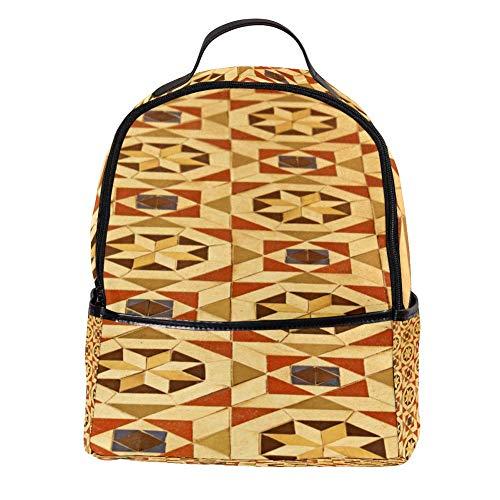 TIZORAX Vintage Vloertegel Patroon Laptop Rugzak Casual Schouder Daypack voor Student School Tas Handtas - Lichtgewicht
