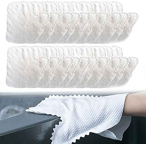 Fish Scale Cleaning Duster Gloves,White Microfiber Dusting Gloves,Disposable Dusting Mitt,Reusable Dust Wipes and Dusting Cloths for House Cleaning,for House Cleaning Grab and Lock in Dust (20pcs)