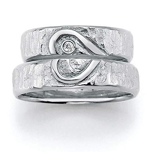 CORE by Schumann Design Trauringe/Eheringe aus 925 Silber Sterlingsilber mit echten Diamanten GRATIS Testringservice & Gravur HEART