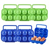 Huevera de Plástico Plegable Recipiente para Huevos Nevera Contenedor de Huevos...