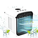 Air Cooler, Portable Air Cooler, 5-in-1 Mini Air Conditioner with LED Light and Purifier, Personal...