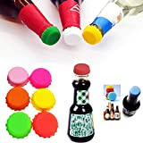36 Pcs Silicone Rubber Bottle Caps Beer Bottle Keepers, Reusable Bottle Stopper Saver for Home Brewing Beer, Soft Drink, Wine Bottle, Beer Bottle, Soda Bottle Kitchen Gadgets (6 Colors)
